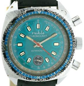 腕時計 ウォッチフライバッククロノグラフエレベータービンテージメンズウォッチ