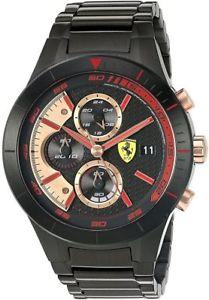 【送料無料】腕時計 ウォッチメンズスクーデリアフェラーリレッドクロノグラフウォッチmens scuderia ferrari red rev evo resin chronograph watch 830305