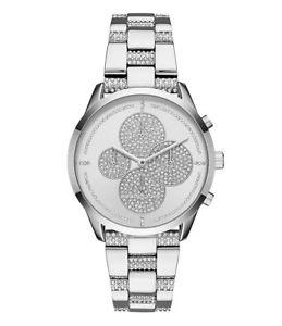 【送料無料】腕時計 ウォッチドルクロノグラフブレスレットスレーターウォッチ395 michael kors slater pav chronograph bracelet watch