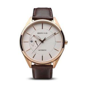 【送料無料】腕時計 ウォッチベーリングメンズローズゴールドブラウンブラウンレザーストラップbering time 16243564 mens rose goldbrown automatic brown leather strap watch