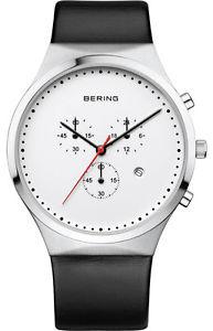 【送料無料】腕時計 ウォッチベーリングクラシックメンズウォッチクロノグラフクロノレザーbering classic 14740404 herrenuhr chronograph chrono leder schwarz neu
