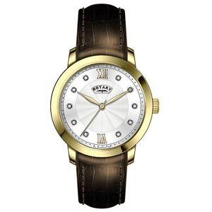 【送料無料】腕時計 ウォッチブラウンレザーストラップレディースロータリー¥ ladies rotary brown leather strap gold plated watch rrp339 ls4282706