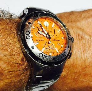 【送料無料】腕時計 ウォッチシリーズクロノグラフオレンジルマンmovado nwt 2600041 800 series chronograph orange ss mans wrist watch