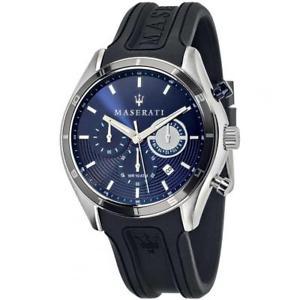 腕時計 ウォッチマセラティマセラティクロノシリコーンネロブルメートルorologio uomo maserati sorpasso r8871624003 chrono silicone nero blu 100mt