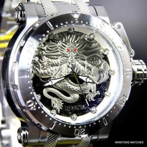 【送料無料】腕時計 ウォッチドラゴンシルバーストーンスチールinvicta coalition forces dragon silver tone steel 52mm automatic watch