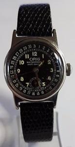腕時計 ウォッチヴィンテージオリスポインターカレンダーサブセカンドマヌエルケースvintage oris pointer calender subsecond manuel wind case 17 jewels circa 1950s