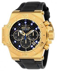 【送料無料】腕時計 ウォッチメンズクロノグラフゴールドスチールブラックレザーウォッチ