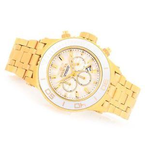 【送料無料】腕時計 ウォッチゴールドブレスレットゴールドシルバーベゼルnwt invicta 52mm all gold subaqua specialty 23938 gold bracelet silver bezel
