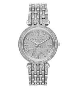 腕時計 ウォッチミハエルシルバーストーンブレスレットウォッチnwt michael kors darci silver tone crystal pave bracelet watch mk3779