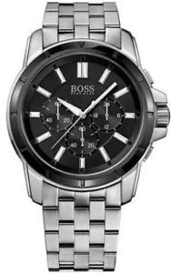 腕時計 ウォッチヒューゴボスメンズクロノグラフスチールウォッチmens hugo boss chronograph steel watch 1512928
