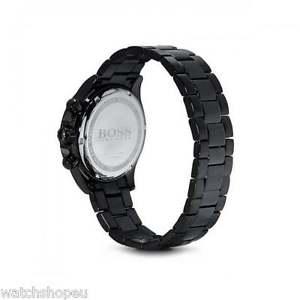 腕時計 ウォッチヒューゴボスメンズブラッククロノグラフウォッチ