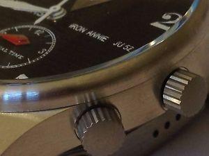 腕時計 ウォッチジュデュアルタイム¥junkers ju52  dual time  6640m2 rrp 199