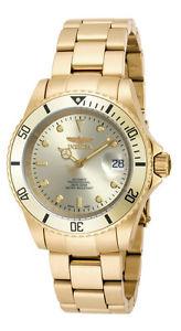 【送料無料】腕時計 ウォッチプロダイバーメンズラウンドアナログゴールドトーンウォッチinvicta pro diver 18508 mens round automatic analog date gold tone watch