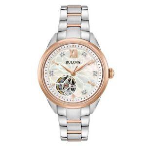 【送料無料】腕時計 ウォッチステンレススチールカジュアルウォッチカラートーンbulova womens 98p170 automatic stainless steel casual watch, color two tone