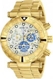 腕時計 ウォッチメンズクォーツクロノゴールドトーンステンレススチールウォッチinvicta mens subaqua quartz chrono 200m gold tone stainless steel watch 24989