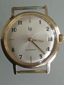 【送料無料】腕時計 ウォッチリップファイアウォールプラークビンテージrare montre lip ancienne calendrier plaqu or vintage