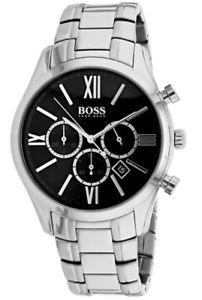 【送料無料】腕時計 ウォッチヒューゴボスメンズアンバサダークォーツクロノグラフステンレススチールウォッチhugo boss mens ambassador quartz chronograph stainless steel watch 1513196