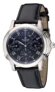 【送料無料】腕時計 ウォッチメンズグランドストラップ¥accurist gmt322b mens commemorative grand complication strap watch rrp 295