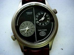 【送料無料】腕時計 ウォッチパリビンテージmontre yema paris wristwatch gmt vintage 80s 90s profesional two times