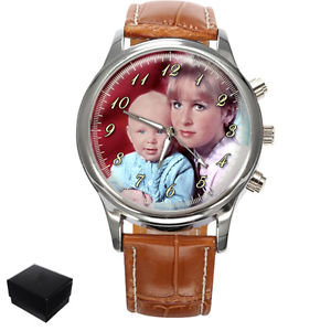 【送料無料】腕時計 ウォッチパーソナライズカスタムバレンタインデーpersonalised custom gents wrist photo watch engraving valentines day gift