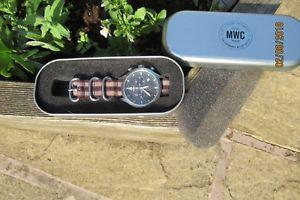 【送料無料】腕時計 ウォッチミルテックステンレススチールパイロットクロノグラフmwc miltec mkiv stainless steel military pilots chronograph 100m boxed vgc a63