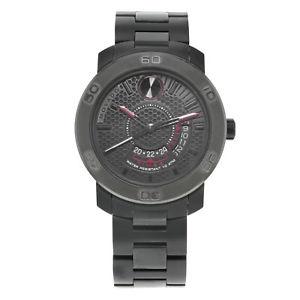 【送料無料】腕時計 ウォッチブラックステンレススチールクオーツメンズウォッチ