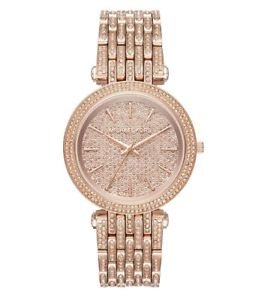 【送料無料】腕時計 ウォッチミハエルローズゴールドトーンブレスレットクリスタルnwt michael kors darci rose gold tone crystal pave bracelet watch mk3780