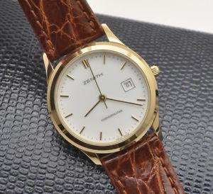 【送料無料】腕時計 ウォッチゴールドレディウォッチzenith cosmopolitan contemporary gold lady 27mm watch pristine unworn