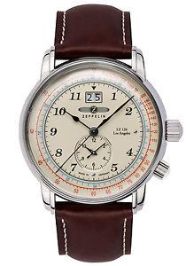 腕時計 ウォッチツェッペリンメンズロサンゼルスデュアルウォッチタイムzeppelin herrenuhr lz126 los angeles dualtime 86445