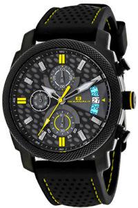 【送料無料】腕時計 ウォッチメンズクロノブラックステンレスシリコン
