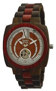 【送料無料】腕時計 ウォッチオロロジオゲントウォッチorologio green time automatico uomo watch wood zw071b legno sandalo 43mm gent