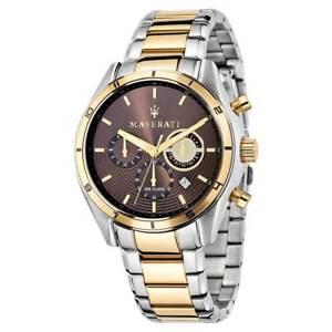 【送料無料】腕時計 ウォッチマセラティマセラティメンズトーンブレスレットクロノウォッチmaserati r8873624001 mens sorpasso two tone bracelet chrono watch