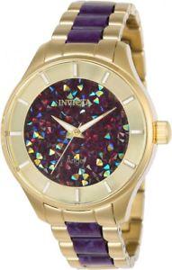 腕時計 ウォッチエンジェルクリスタルアクセントブレスレット womens invicta 24664 angel crystal accented resin bracelet watch
