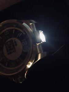 腕時計 ウォッチスイスアーミーナイトビジョンブラックレザーメンズウォッチセール