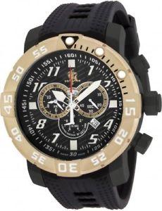 【送料無料】腕時計 ウォッチメンズシーベースクロノグラフブラックポリウレタンウォッチ