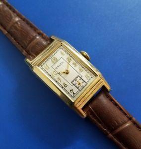 腕時計 ウォッチヴィンテージルマングリーンフルサービスvintage 1936 mans gruen hand winding fully serviced