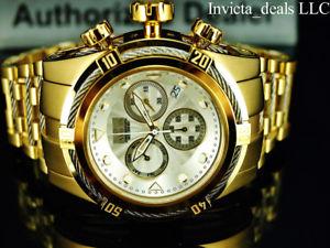 【送料無料】腕時計 ウォッチメンズボルトゼウスクロノグラフステンレススチールinvicta mens 52mm bolt zeus chronograph 18k gold plated stainless steel watch