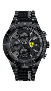 【送料無料】腕時計 ウォッチグラフィカルスクーデリアフェラーリネロorologio cronografo uomo ferrari redrev evo fer0830262 nero scuderia originale