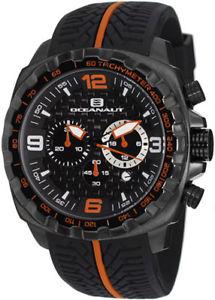 【送料無料】腕時計 ウォッチメンズレーサーmクロノステンレススチールブラックシリコン