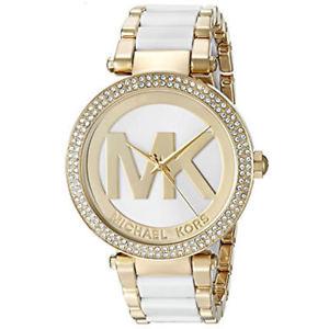 【送料無料】腕時計 ウォッチミハエルパーカートーンステンレスロゴウォッチ michael kors mk6313 39mm womens parker twotone stainless mk logo watch