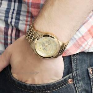 【送料無料】腕時計 ウォッチミハエルメンズゴールドクロノオリジナルmichael kors original mk8077 mens runway oversized gold chrono watch 45mm