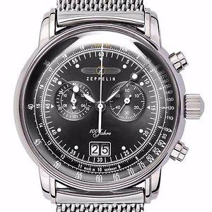 【送料無料】腕時計 ウォッチツェッペリンツェッペリンクロノビッグzeppelin 7690m2 100 jahre zeppelin anthrazit stahl 42 mm chrono grossdatum neu