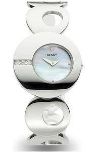 【送料無料】腕時計 ウォッチパールスワロフスキークリスタルブレスレットレディースseksy ladies eclipse mother of pearl swarovski crystal stone 4798 bracelet watch