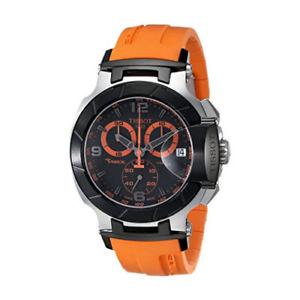 【送料無料】腕時計 ウォッチメンズティソレーストーンステンレスオレンジtissot mens t0484172705704 trace twotone stainless steel watch with orange