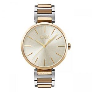 【送料無料】腕時計 ウォッチヒューゴボスレディスウオッチhugo boss damenuhr allusion 1502417 bicolor