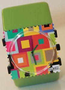 【送料無料】腕時計 ウォッチクラシックライムスタンプstamps uhr exibition belta classic lime neu stamps