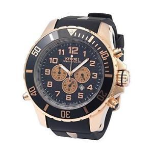【送料無料】腕時計 ウォッチブランドクロノローズブラックスチールシリコンウォッチ