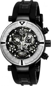 【送料無料】腕時計 ウォッチメンズスイスクロノグラフブラックポリウレタンルウォッチ