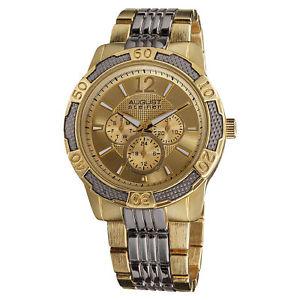 【送料無料】腕時計 ウォッチシュタイナートーンメンズスポーツクォーツマルチファンクションブレスレットmens august steiner as8058ttg two tone sport quartz multifunction bracelet watch