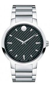 【送料無料】腕時計 ウォッチカーボンファイバーステンレススチールクオーツメンズウォッチ